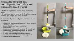 Lampazo Escurridor 2 Mopas Balde Trapeador Centrifug A/inox - $ 799,00 en Mercado Libre