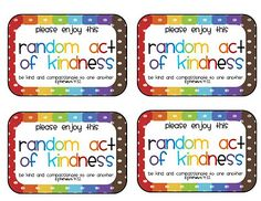 If you're planning to do some random acts of kindness, then think about using these free printables from Sweet Blessings!