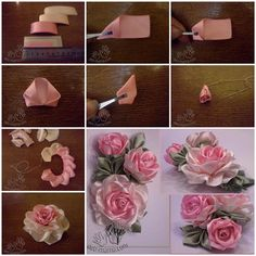Satin Ribbon Rose  DIY Pretty Satin Ribbon Roses   Free Tutorial