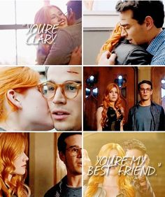 """""""Clary,"""" he said. """"You're Clary. You're my best friend. Drag Queens, Simon And Clary, Shadowhunters Tv Show, Clace, The Dark Artifices, City Of Bones, The Infernal Devices, Cassandra Clare, The Mortal Instruments"""
