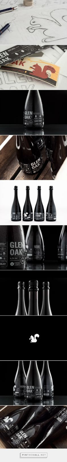Glen Oak Craft Beer packaging design by Alex Monzo at Brandsummit (Spain) - http://www.packagingoftheworld.com/2016/05/glen-oak.html