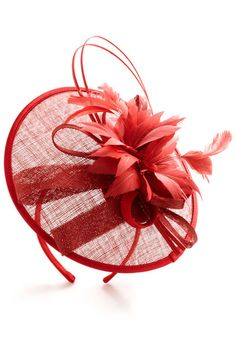 Tilt the End of Time Fascinator in Rouge | Mod Retro Vintage Hats | ModCloth.com