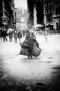 Homeless in Manhattan, New York City. HomeLess HomeLessNess Poverty Pobreza Pauvreté