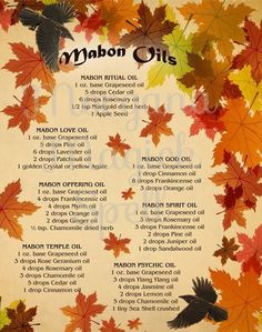 The Sabbats – Witches Of The Craft® Mabon, Samhain, Magick Spells, Pagan Witchcraft, Jar Spells, Cedar Oil, Printing And Binding, Autumnal Equinox, Love Oil