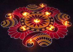 Kolangal Designs for Diwali