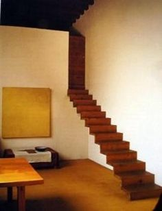 Luis Barragan, the original mod architect. His iconic floating stairs. Interior Stairs, Interior And Exterior, Interior Design, Architecture Details, Interior Architecture, Cantilever Stairs, Stairs To Heaven, Floating Staircase, Mellow Yellow