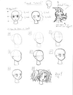 Tutorial: Anime Heads by gloomknight on deviantART