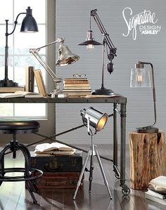 Desk Lamps   Home Office Lighting   Ashley Furniture   #AshleyFurniture    Home Furniture And