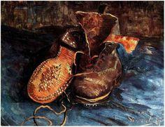 Vincent van Gogh Un par de zapatos Painting