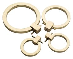 Buy Round Drop Ring Pulls from The Brass Center on Dering Hall