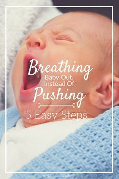 I never knew that breathing baby out instead of pushing was actually possible! Its's better for your baby during your labor and delivery of birth because it's completely natural! Go pregnant mommas! mynaturalbabybirt...