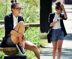 We think #Converse make this geek chic look complete! http://www.towerboots.com/womens/shop-by-brands/womens-converse
