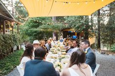 Amanda and Eddie's long table reception for their 30 guests.   Photography by Marcela Garcia Pulido. See more here......... @intimateweddings.com #reception #smallwedding #farmwedding