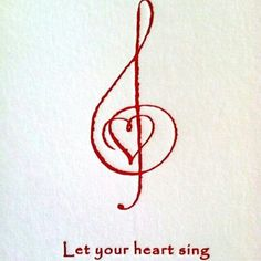 Might be a good tattoo idea. I love the heart in the treble clef!