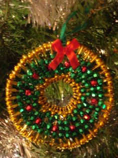 Safety Pin Christmas Tree Wreath
