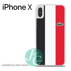 Lacoste Vertical Strip 4 Phone case for iPhone X