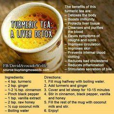 *Turmeric Tea: Liver Detox!