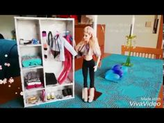 Como fazer roupeiro para Barbie e bonecas similares _ How to make doll c...