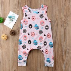 743c680d555 Summer 0-24M Newborn Baby Boys Girls Romper Sleeveless Whale Jumpsuit  Outfits Rompers Round Neck Easter Egg Playsuit