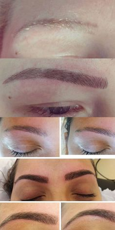 Microblading is the new brow trend we're *obsessed* with! The before and after pics are AMAZING...