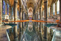 Cathedral of Saint Mary (Salisbury Cathedral), Salisbury, Wiltshire, England Church Backgrounds, Salisbury Cathedral, Pool Fountain, Anglican Church, Widescreen Wallpaper, Wallpapers, Wallpaper Desktop, Cathedral Church, Gothic Architecture