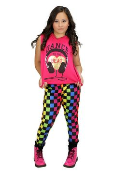 So Funky and bright! You will stand out in these awesome pants in dance class or hanging out!
