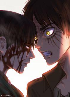 Shingeki no kyojin Eren va Levi Civil war Cap 83 La decisión de nuestras vidas jaja T-T