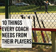 10 things every coach needs from his players ..www.thirtyhandmadedays.com