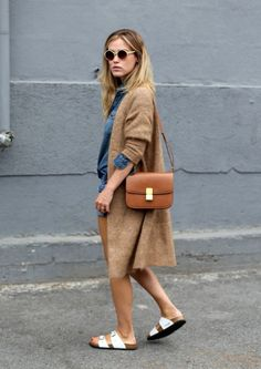 Normcore is the new trend but if you're not at all too excited about it, we understand. In a world where looks have become one of the most important things, it can be hard to just be basic. Style Me, Cool Style, Oversized Sweater Outfit, Long Cardigan, Look Fashion, Womens Fashion, Fashion Tips, Look Street Style, Normcore