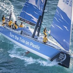 Dee Caffari will lead 'Turn the Tide on Plastic' in the edition of the Volvo Ocean Race The World Race, Volvo Ocean Race, Classic Sailing, Pastel Sky, Family Foundations, Sailing Adventures, Race Day, Sport, Environment