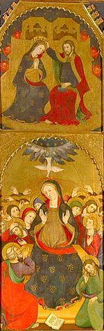 Retablo del Espiritu Santo  (Detail)  Circa 1394 -- Pere Serra y Lluis Borrassa -- Catalonian -- Tempera on panel -- Basílica de Santa Maria de Manresa