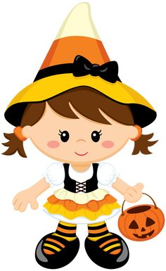 Brujita Dulceros Halloween, Halloween Poems, Adornos Halloween, Manualidades Halloween, Halloween Clipart, Halloween Crafts For Kids, Halloween Cookies, Halloween Party Decor, Candy Corn Crafts