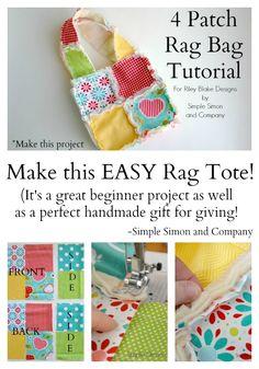 4 Patch Rag Bag Tutorial - Simple Simon and Company