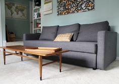 masculine home office design with ikea friheten sleeper sofa