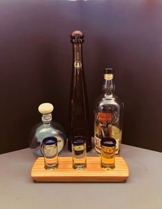 Tequila Flight Tequila Tasting Flight Solid Oak Flight Blue Rim Handblown Shot Glasses Serving Tray Set Can Be Personalized Tequila Tasting, Whisky Tasting, You And Tequila, Tequila Shots, Tasting Table, Scotch Whisky, Shot Glasses, Bars For Home, Distillery