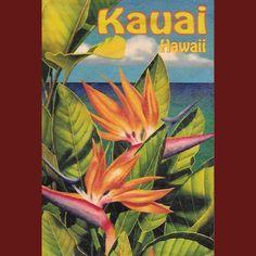 Wooden Kauai Postcard - Bird of Paradise, by Hawaiian Woody's