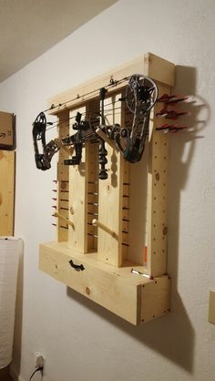 Diy bow rack