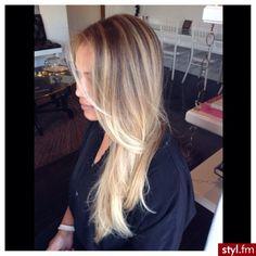Fryzury  Blond włosy: Fryzury Długie Na co dzień Proste Rozpuszczone Blond - ombre - 2603309