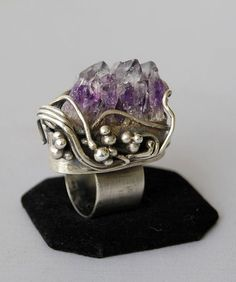 #Sterling #Silver and #Amethyst #Ring #fashion #design #jewelry