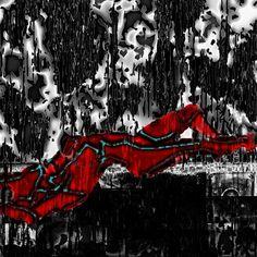 "Saatchi Online Artist Tabitha Jones; Drawing, ""Acid Rain"" #art Rain Art, Saatchi Online, Online Gallery, Saatchi Art, Goth, Dark, Drawings, Artist, Artwork"