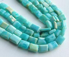 Peruvian Blue Opal Beads Blue Opal Plain Chewing by gemsforjewels