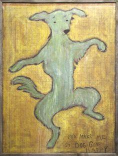 Dancing Dog Art Print-- jackandjillboutique.com-Free Shipping $90 and above