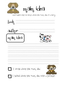 Page 1 of 1 Book Authors, Books, Plural Nouns, 4 Story, Good Readers, Main Idea, Maine, Writing, Comics