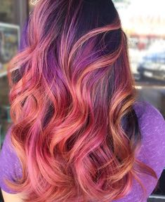 Peach and Purple Melt