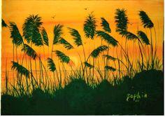 Sea oats Atlantic Beach Fl.  Sold Art Paintings For Sale, Original Paintings, Original Art, Atlantic Beach Fl, Heaven On Earth, Palm Trees, Mixed Media, Florida, Sea