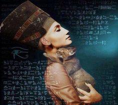 Nefertiti with bastet