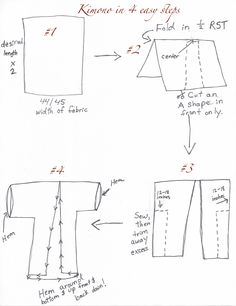 The best DIY kimono tutorial for slippery fabric that frays easily.  This one is fast too.