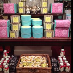 Fortnum and Mason, London.... there are no tacky metal shelves or coupon dispensers here.  ALL of the displays look like this.