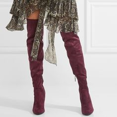 5081bf5bd9a Red Winter Must Have Chunky Heel Over the Knee Boots