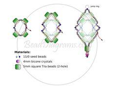 TILA NET Earrings Free Pattern from beaddiagrams.com. Page 2 of 2